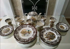 Royal Worcester Palissy Game Series Classic Antique Set