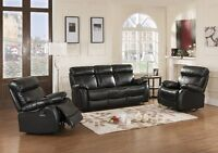 NEW Faux Leather Reclining Sofa Sets!  FREE Delivery!