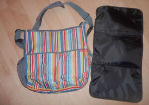 SkipHop diaper bag with change pad