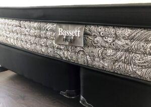 Bassett Finley Euro Top King Mattress + Box spring + Steel Frame
