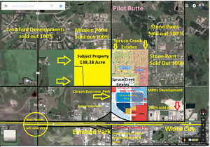 Development Land for Sale Regina,Pilot Butte, SK