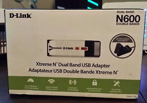 D-LINK  Xtreme N Dual Band USB Adapter N600 Peterborough Peterborough Area image 1