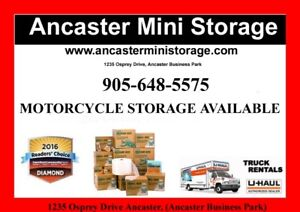 Motorcycle storage available now!