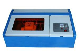 New 110v 40W CO2 2030 Laser Engraving Machine with Clamp 130011