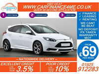2014 FORD FOCUS 2.0 T ST3 GOOD / BAD CREDIT CAR FINANCE FROM 69 P/WK