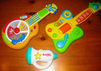 Leap Frog Animal Sounds Guitar and other guitar, trumpet