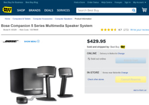 WOW! Bose Companion 5 Speakers! $320 or best offer!