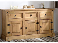 NEW Quality Large Sideboard 3 Door 3 Draw From Corona Pine Furniture
