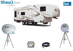 SHAW DIRECT / TELUS / BELL DISH OR TRIPOD FOR CAMPING, RV