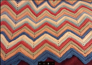 Afghan - bedspread - chair throw - quilt top
