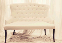 EVENT AND WEDDING LOVESEAT AND CHAIR RENTAL(event furnitures)