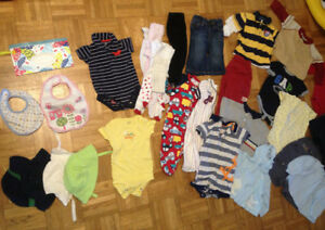 Girls' clothes up to 12months