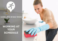 Looking  for Part-time Cleaners in Mississauga.