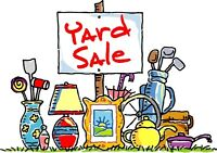 Garage sale with lots of items