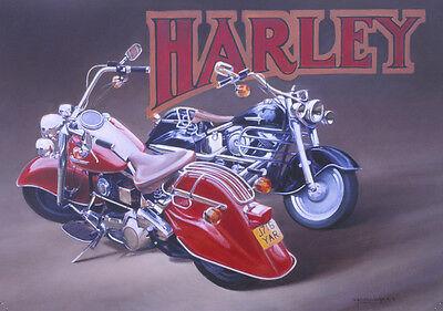 Harley Davidson Motorcycle Motorbike Birthday Fathers Day Card - Harley Davidson Birthday