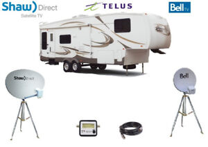 BELL,TELUS, SHAW DIRECT DISH OR TRIPOD 4 CAMPING, RV, 5th wheel
