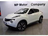 2013 63 NISSAN JUKE 1.6 N-TEC 5D 115 BHP 5DR 5 SP HATCH, WHITE, 53,000M, 1 OWNER