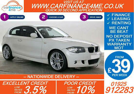 2011 BMW 116 2.0 PERFORMANCE EDITION GOOD / BAD CREDIT CAR FINANCE FROM 39 P/WK