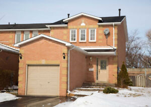 3+2 Bed / 2 Bath End Unit Freehold Townhouse W/ Fin'd Bsmnt