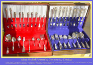 White Orchid Silverplate 1953  by Oneida Silver Flatware