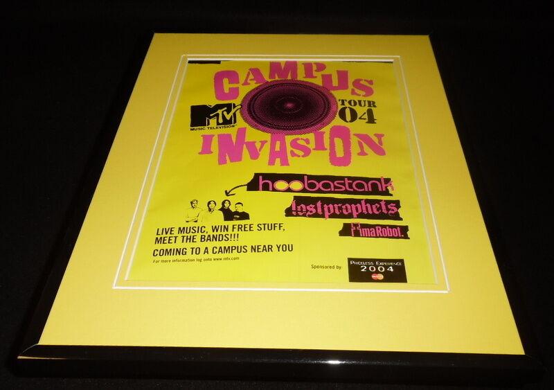 MTV Campus Invasion 2004 11x14 Framed ORIGINAL Advertisement Hoobastank