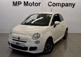 2015 15 FIAT 500 1.2 S DUALOGIC 3D 69 BHP, 3DR AUTO ECO STOP/START HATCH, WHITE