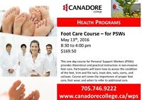 Canadore College - Parry Sound - Foot Care Course for PSW