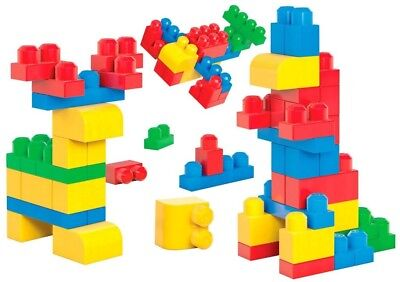 NEW KIDS 80PC BRICK TUBE GREAT FOR IMAGINATIVE PLAY BUILDING BRICKS BEST