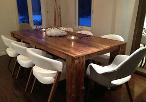 Table en bois de grange La Hemlock