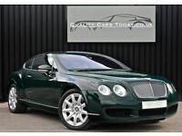Bentley Continental 6.0 W12 GT Ex Bentley Press Car + Barnato Green +Cognac Hide