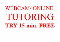 Professional Webcam/Online Tutoring: It works! Try 15 min. free!