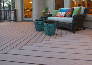 Composite decking for sale -- 8 and 16-foot lengths
