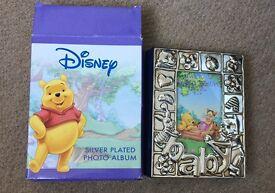 Disney Winnie the Pooh Silver Plated Baby Photo Album