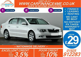 2012 SKODA SUPERB 1.6 TDI SE GOOD / BAD CREDIT CAR FINANCE FROM 29 P/WK
