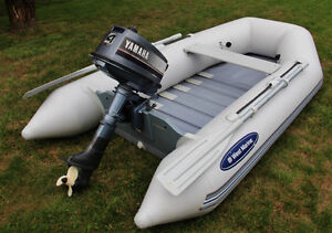 Inflatable boat for sale with motor
