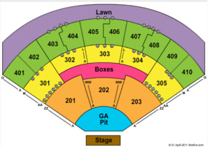 PIXIES / WEEZER -2 general admission floors, July 14th , Toronto