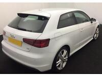White Audi A3 1.6 1.8 2.0 TDI Diesel S Line FROM £62 PER WEEK!