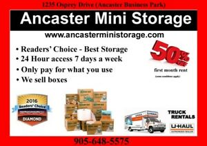 Need Storage? Ancaster mini storage is here to help.