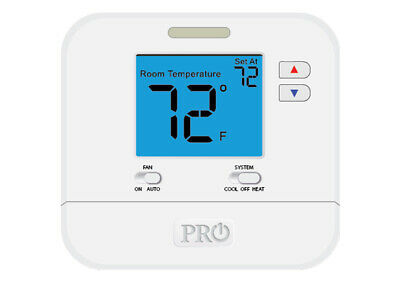 Wall Thermostat Vive Non-programmable Thermostat Tp-n-701 With Pro1 Magnet Logo