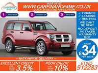 2009 DODGE NITRO 2.8 CRD SXT GOOD / BAD CREDIT CAR FINANCE FROM 34 P/WK