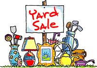 Yard sale - rain or shine!