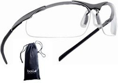 Boll - Bolle Safety Glasses Contour Clear - Metal Frame 40049 - With Pouch