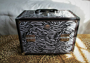 Valise pour maquillage London SOHO New York motif Zèbre