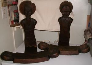 Antique Hand Carved Birthing Chairs