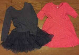 2 OLD NAVY GIRLS DRESSES SIZE 5T PINK AND PURPLE