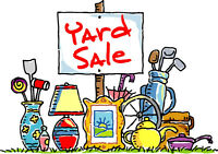 YARD  SALE  Rain or Shine .... if Rain then it will be in Garage