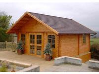 Three roomed log cabin