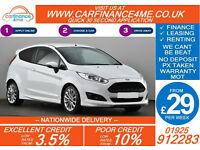 2014 FORD FIESTA 1.6 TDCI ZETEC S GOOD / BAD CREDIT CAR FINANCE FROM 29 P/WK