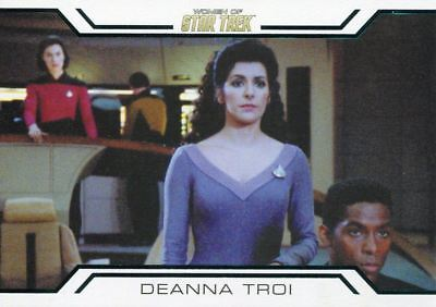 Star Trek Women Of 50th Anniversary Women In Command Chase Card WC3 Deanna Troi