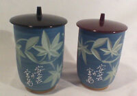 Pair of small ceramic jars